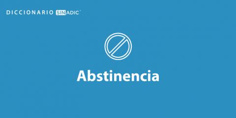Simbolo Abstinencia